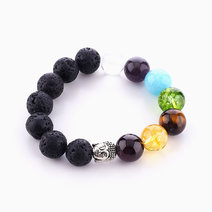 Buddha Chakra Diffuser Bracelet (12mm Stones) by Stars and Stones