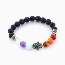 Hamsa Chakra Diffuser Bracelet (8mm Stones) by Stars and Stones