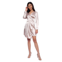 Hannah Satin Wrap Dress by HAV PH