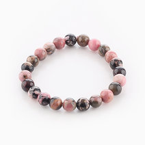Intention Bracelet Rhodonite (8mm Beads) by Crafted by Ica