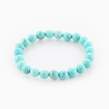 Intention Bracelet Turquoise (8mm Beads) by Crafted by Ica