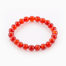 Intention Bracelet Red Agate (8mm Beads) by Crafted by Ica