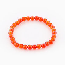 Intention Bracelet Red Agate (6mm Beads) by Crafted by Ica