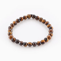 Intention Bracelet Tiger's Eye (6mm Beads) by Crafted by Ica