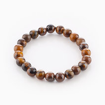 Intention Bracelet Tiger's Eye (8mm Beads) by Crafted by Ica