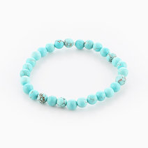 Intention Bracelet Turquoise (6mm Beads) by Crafted by Ica