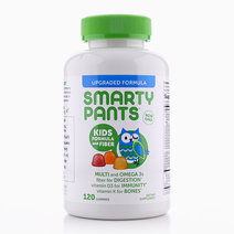 Kids Formula and Fiber Multi and Omega 3s Fiber for Digestion Vitamin D3 for Immunity Vitamin K for Bones (120 Gummies)  by Smarty Pants