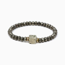 Infinite Abundance Pyrite Crystal Bracelet by The Calm Chakra