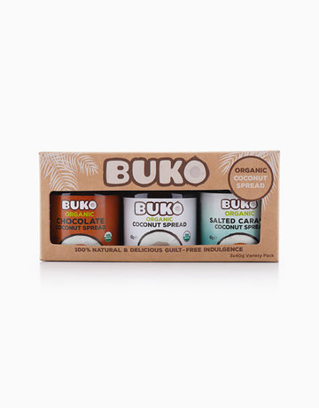 Buko Organic Coconut Spreads Variety Pack (3 x 40g) by Buko Foods