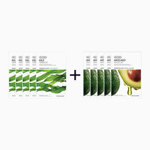 Sheet Mask Bundle - Kelp & Avocado (Buy 5, Take 5) by The Face Shop