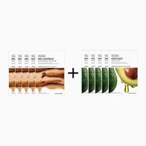 Sheet Mask Bundle - Red Ginseng & Avocado (Buy 5, Take 5) by The Face Shop