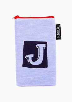 Alphabet J Vertical Pouch by Artwork