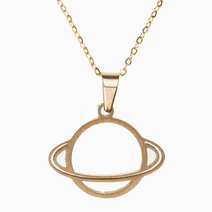 Saturn Non-Rust Necklace by Bedazzled