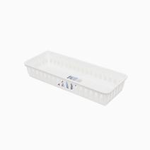 Slim Storage Tray (White) by Sterilite