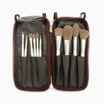 10-Piece Silver Travel Brush Set with Case by PRO STUDIO Beauty Exclusives