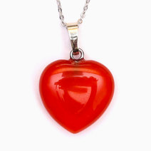 Agate Healing Heart Pendant by Crystal Beauty