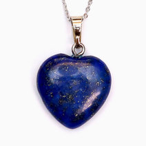 Lapis Lazuli Healing Heart Pendant by Crystal Beauty