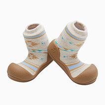 Nordic Design (Brown) by Attipas Baby Shoe Socks