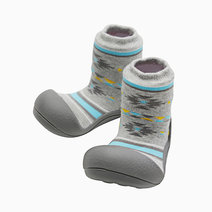 Nordic Design (Gray) by Attipas Baby Shoe Socks