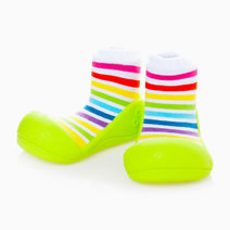 Rainbow Design (Green) by Attipas Baby Shoe Socks