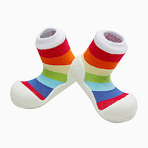 Rainbow Design (White) by Attipas Baby Shoe Socks