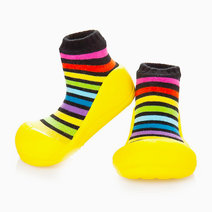 Rainbow Design (Yellow) by Attipas Baby Shoe Socks