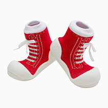 Sneaker Design (Red) by Attipas Baby Shoe Socks