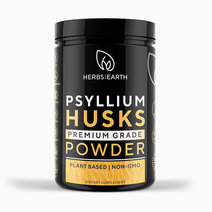 Psyllium Husk Powder (340g Premium Fiber) by Herbs of the Earth