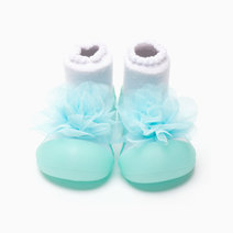 Corsage Design (Green) by Attipas Baby Shoe Socks