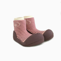 Forest Design (Pink) by Attipas Baby Shoe Socks