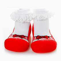 Ballet Design (Red) by Attipas Baby Shoe Socks