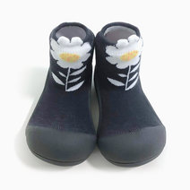 Flower Design (Grey) by Attipas Baby Shoe Socks