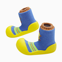Robot Design (Yellow) by Attipas Baby Shoe Socks