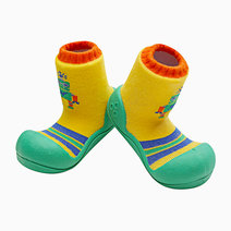 Robot Design (Green) by Attipas Baby Shoe Socks