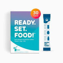 Stage 2, 30 packets: Ready, Set, Food! Early Allergen Maintenance for Babies for allergy prevention, Peanut, Egg & Milk by Ready, Set, Food!