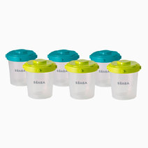 Set of 6 Clip Portions (2nd Age / 200ml) by BEABA