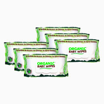 Organic Baby Wipes With Cap 80s (6) by Organic Baby Wipes