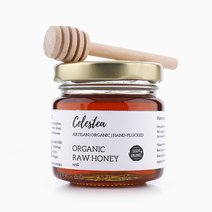 Organic Raw Honey with Wooden Dipper by Celestea