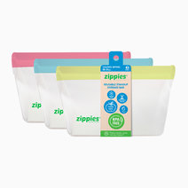 Colored Reusable Stand-up Bags (Medium) by Zippies