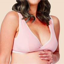 Crossover Sleeping & Nursing Bra with Cups (Pink) by Mamaway