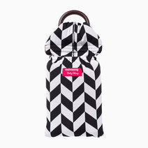 Black & White Herringbone Baby Ring Sling by Mamaway