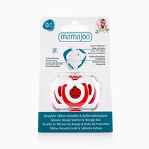 Silicone Orthodontic Soother w/ Cover (Ladybird Red) by Mamajoo