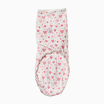 Infant Velcro Swaddle Wrap (Pink Hearts) by Swaddies PH