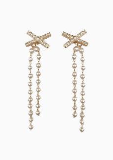 Aileen Pearl Drop Earrings by Dusty Cloud