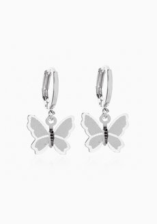 Constance Butterfly Dangle Earrings by Dusty Cloud