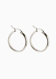 Suki 2.4cm Hoop Earrings by Dusty Cloud