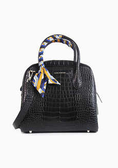 Ally Satchel Black by Hush Puppies