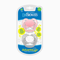 Advantage Stage 1 Pink Stars Pacifier (2-Pack) by Dr. Brown's