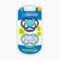 Advantage Stage 2 Blue Chemistry Pacifier (2-Pack) by Dr. Brown's