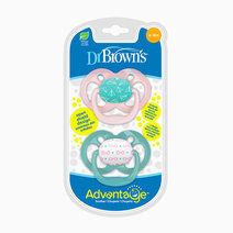 Advantage Stage 2 Pink Airplanes Pacifier (2-Pack) by Dr. Brown's